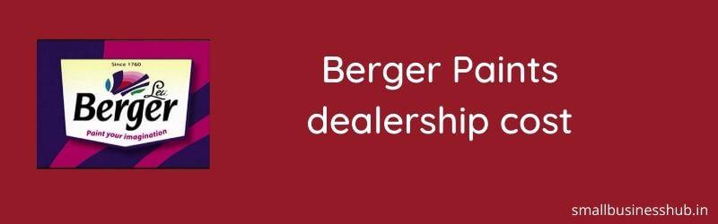 berger paints dealership cost